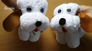 DIY  Dog Kid Toy from Towel  - Quick & Cute Gift