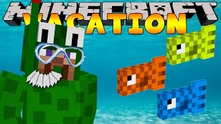 Minecraft Vacation - LITTLELIZARD GOES  SWIMMING!