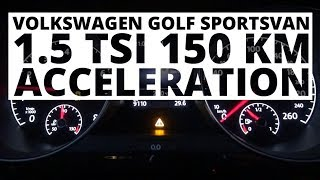 Volkswagen Golf Sportsvan 1.5 TSI 150 KM (AT) - acceleration 0-100 km/h