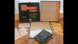 Scrabble De Luxe Vintage Board Game By Spear's Games 1973 Deluxe