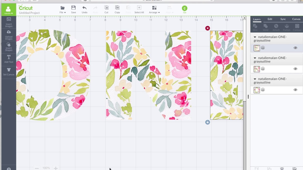 Cricut Watercolor Floral Pattern Fill Garland Tutorial