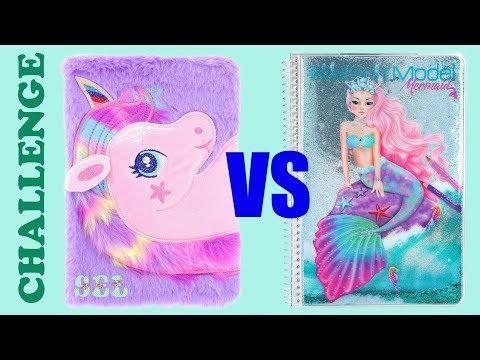 Канцелярия ЕДИНОРОГА против РУСАЛКИ! Back to School Unicorn VS Mermaid Challenge