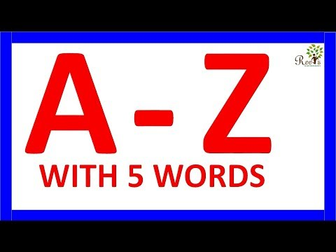 A To Z Alphabets With Spelling For 5 Words For Kids/toddlers Learning