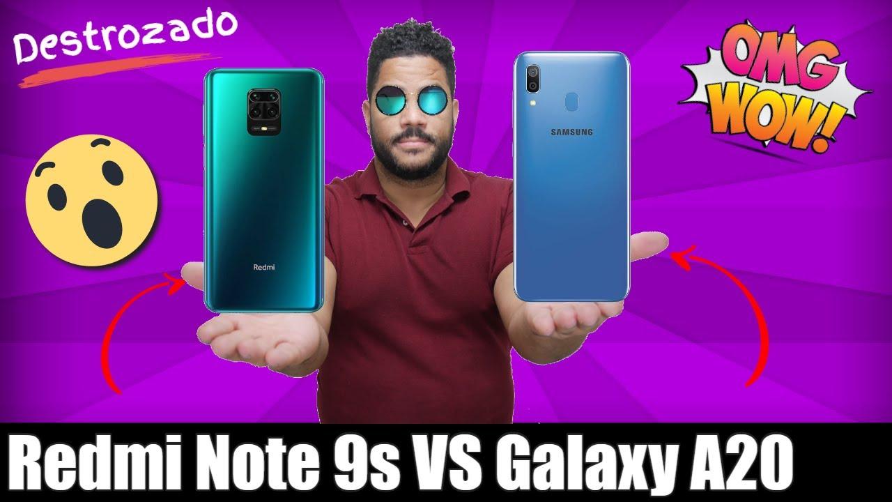 Xiaomi Redmi Note 9s VS Samsung Galaxy A20 Comparación