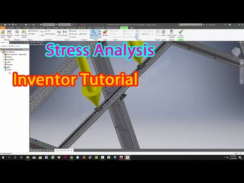 Inventor Tutorial - How to Stress Analysis in Inventor Software - Software trainning thumbnail