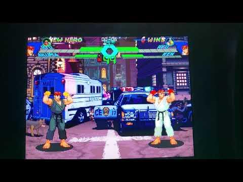 zerohero936 vs SCRAMERRATIC Xmen vs street fighter online rank arcade1up match from Morty 215 fight club bring your quarters
