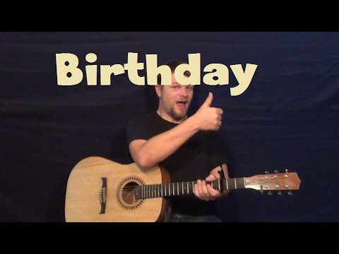 Birthday (The Beatles) Easy Strum Chord Guitar Lesson Licks TAB