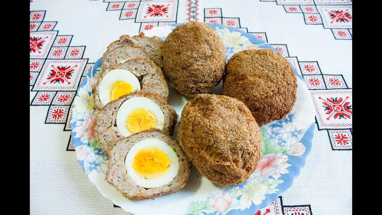 Яйца ПО ШОТЛАНДСКИ Мясные рулетики с яйцом простая закуска Яйця ПО ШОТЛАНДСКИ Мясні рулетики з яйцем