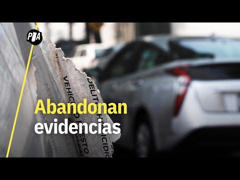 PGJ estaciona evidencias en la calle