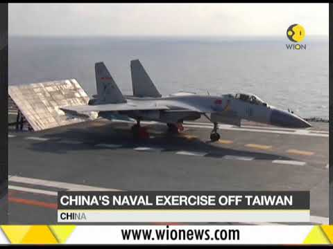 Chinese Navy launches live-fire exercise in Taiwan Straits; drill includes aircraft carrier Liaoning