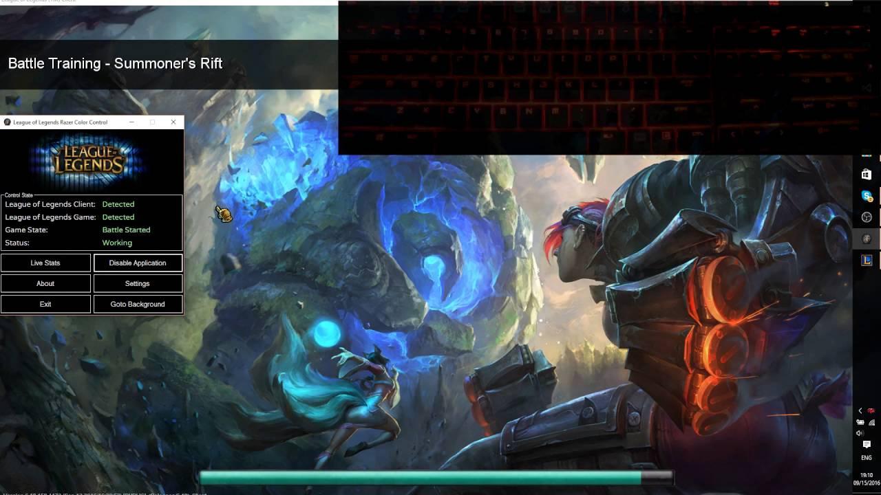 League of Legends Razer Chroma Keyboard Visualizer