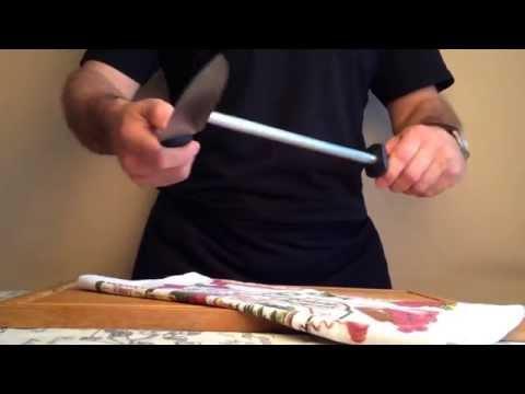 Как поправить нож мусатом