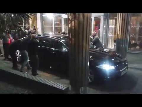 Paparazzi & a Jaguar Limousine