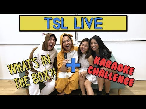 What's In The Box Challenge With Popsicle Karaoke! | TSL LIV