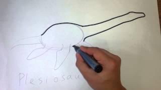 Menggambar Plesiosaurus