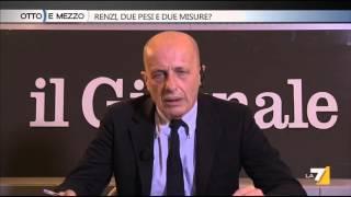 Otto e mezzo - Renzi, due pesi e due misure? (Puntata 16/12/2015)