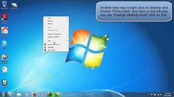 HOW TO DISPLAY MY COMPUTER ICON ON THE DESKTOP IN WINDOWS 7