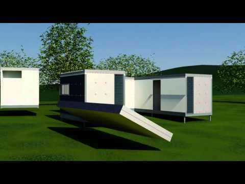 Arkistruct's arkiVILLA - Folding 3 Bedroom House - YouTube