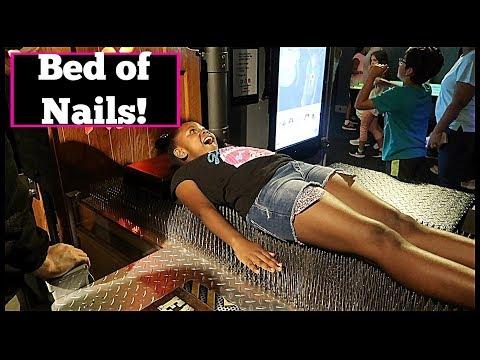 Bed Of Nails | WonderWorks Orlando| Family Vlogs