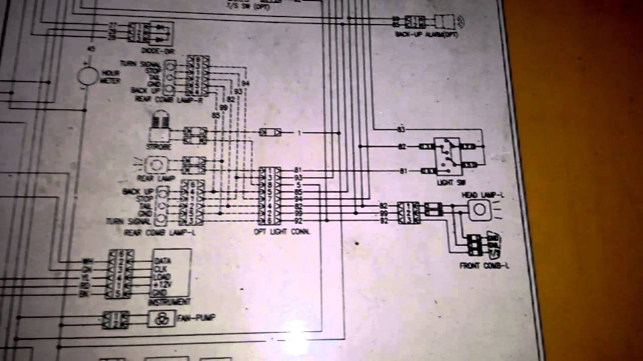 wiring diagram daewoo forklift 2 5 ton youtube