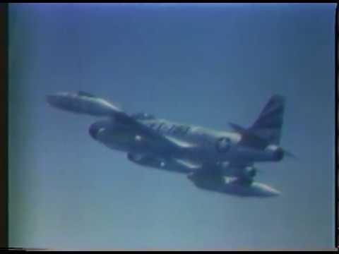 USAF F-80 Aircraft Preparation and In-Flight Footage, Korean War