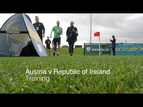 Republic of Ireland v Austria Training