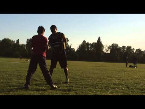 Light body shield work with Dano @ tooting bec common