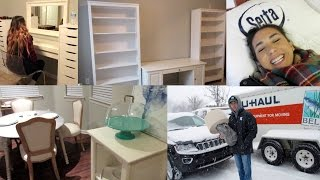 Moving Day Vlog!! House Tour Sneak Peek & Decor Shopping