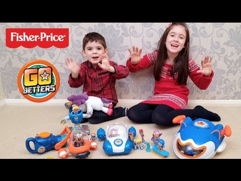Fisher-Price Go Jetters Jet Pad, Vroomster, Talking Ubercorn & Glitch & Grimbler Toy Review
