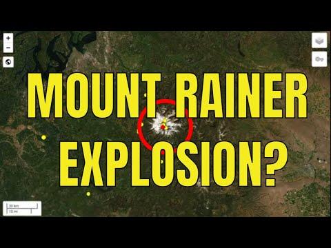 Explosion At Mount Rainier / Earthquake Swarm Cobb, California / Colorado Volcano Dotsero