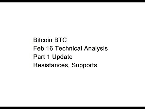 Bitcoin BTC - Feb 16 Technical Analysis - Part 1 Update - Resistances, Supports