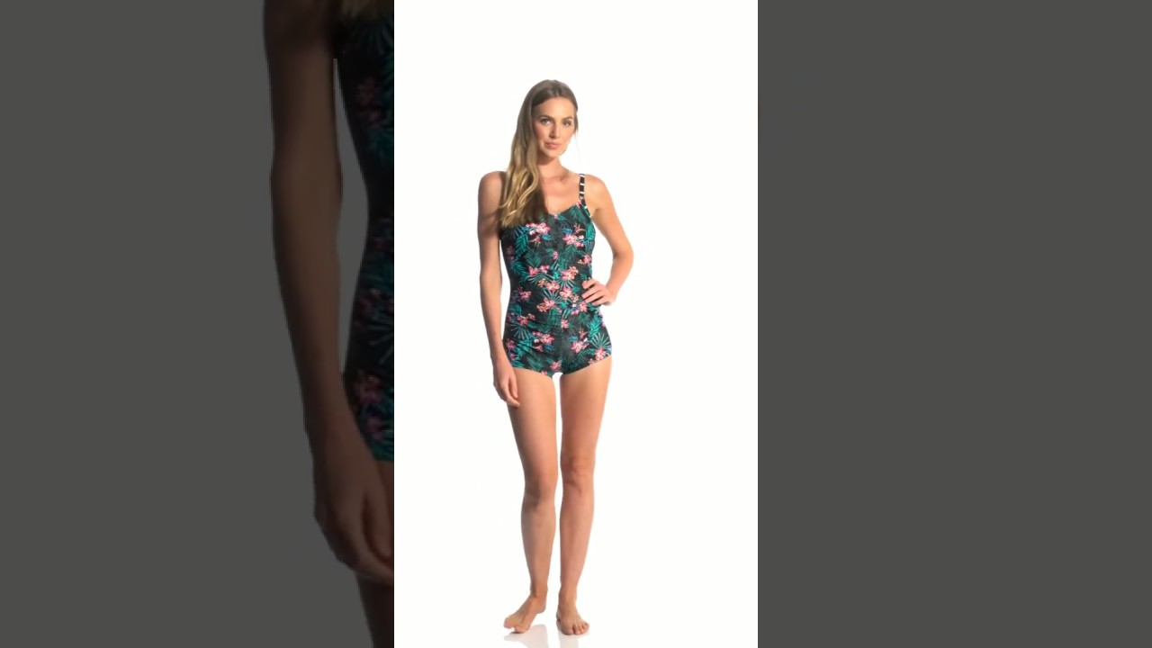 73e7f256ae Amoena Mastectomy Mexico Boyleg One Piece Swimsuit | SwimOutlet.com ...