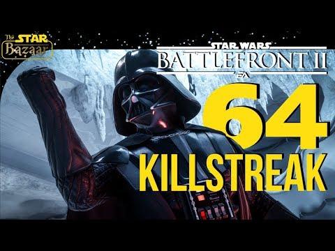 Vader Conquers Hoth! 64 Darth Vader Killstreak | Battlefront 2 Gameplay