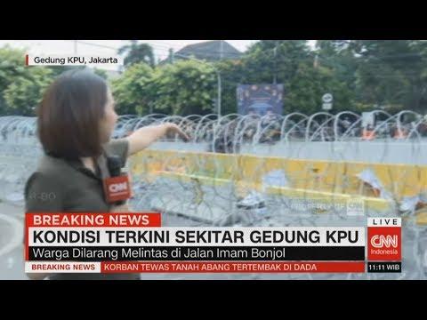 Kondisi Terkini Gedung KPU: Warga Dilarang Melintas Di Jalan Imam Bonjol