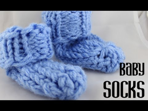 5288883e9ed Loom Knitting Baby Socks (super easy!) - YouTube