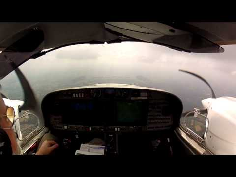 DA42-VI IFR Landing at Biarritz LFBZ