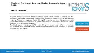Market Share, Trends and Growth : Thailand Outbound Travelers Spending in India, Malaysia and Japan
