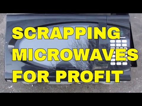 How To Scrap A Microwave Oven For Clean Scrap Metal Profit Cash Money Copper Wire Motors Transformer