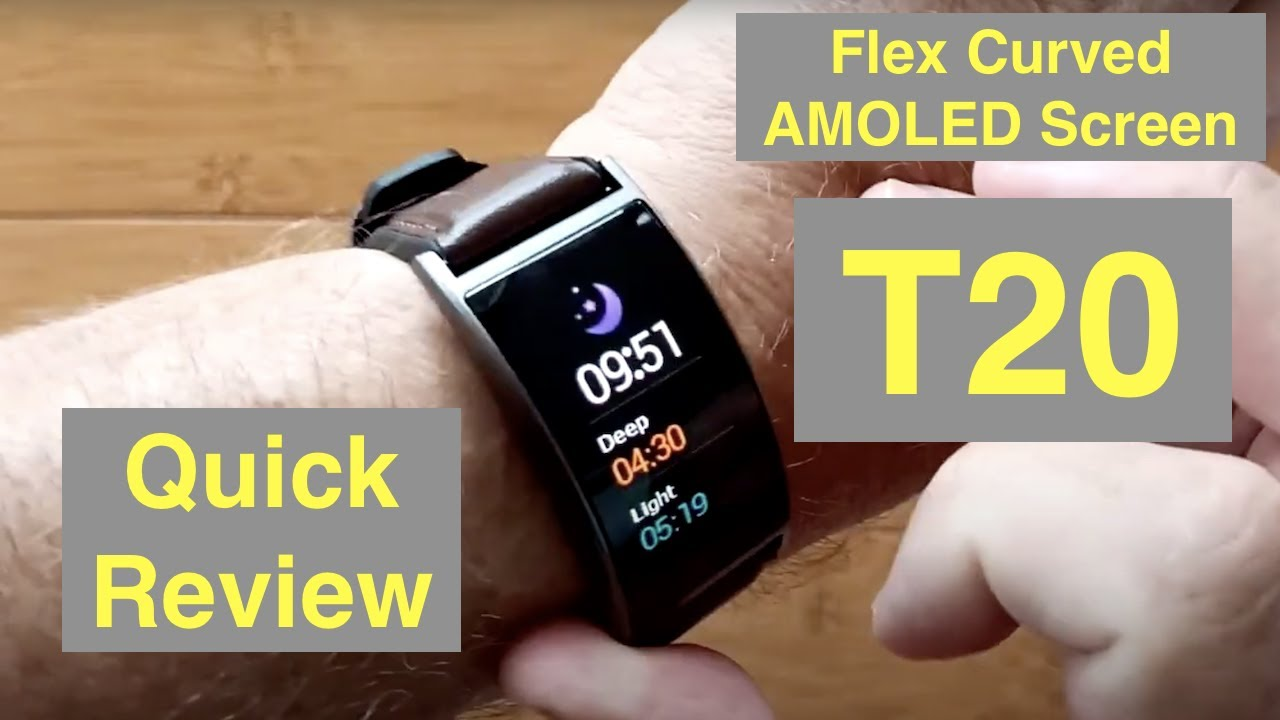 SENBONO T20 IP67 Fitness Tracker 1.5'' Flex AMOLED Blood Pressure Weather Smartwatch: Quick Overview