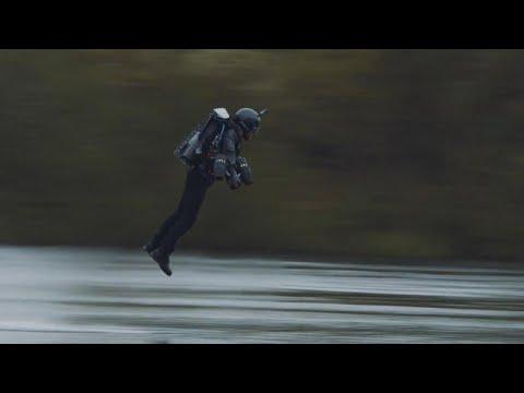 Man's Jet Engine Power Suit Defies Gravity, Breaks World Record