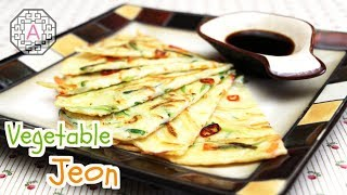 Korean Food: Vegetable Pancake (야채전)