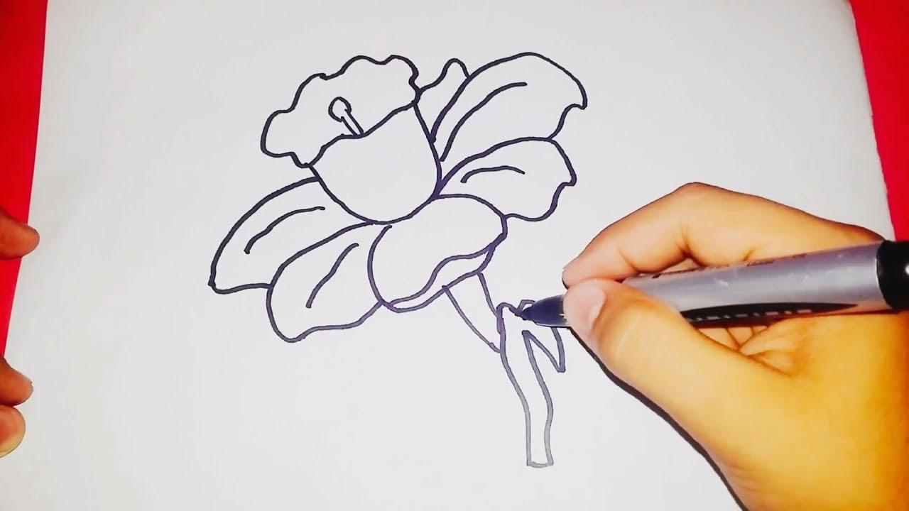 Kalem ile çiçek çizmek