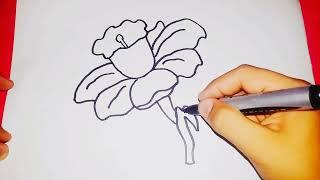 Sadece (2 dakikada) cok kolay çiçek çizimi