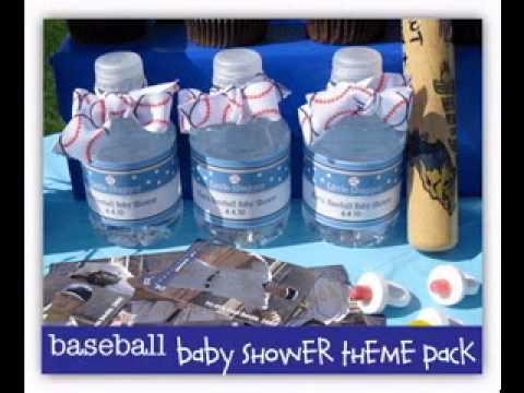DIY Baseball baby shower decorating ideas - YouTube