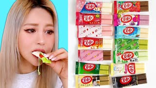 I Tried 15 Rare Kit Kat Flavors! (shocking results)
