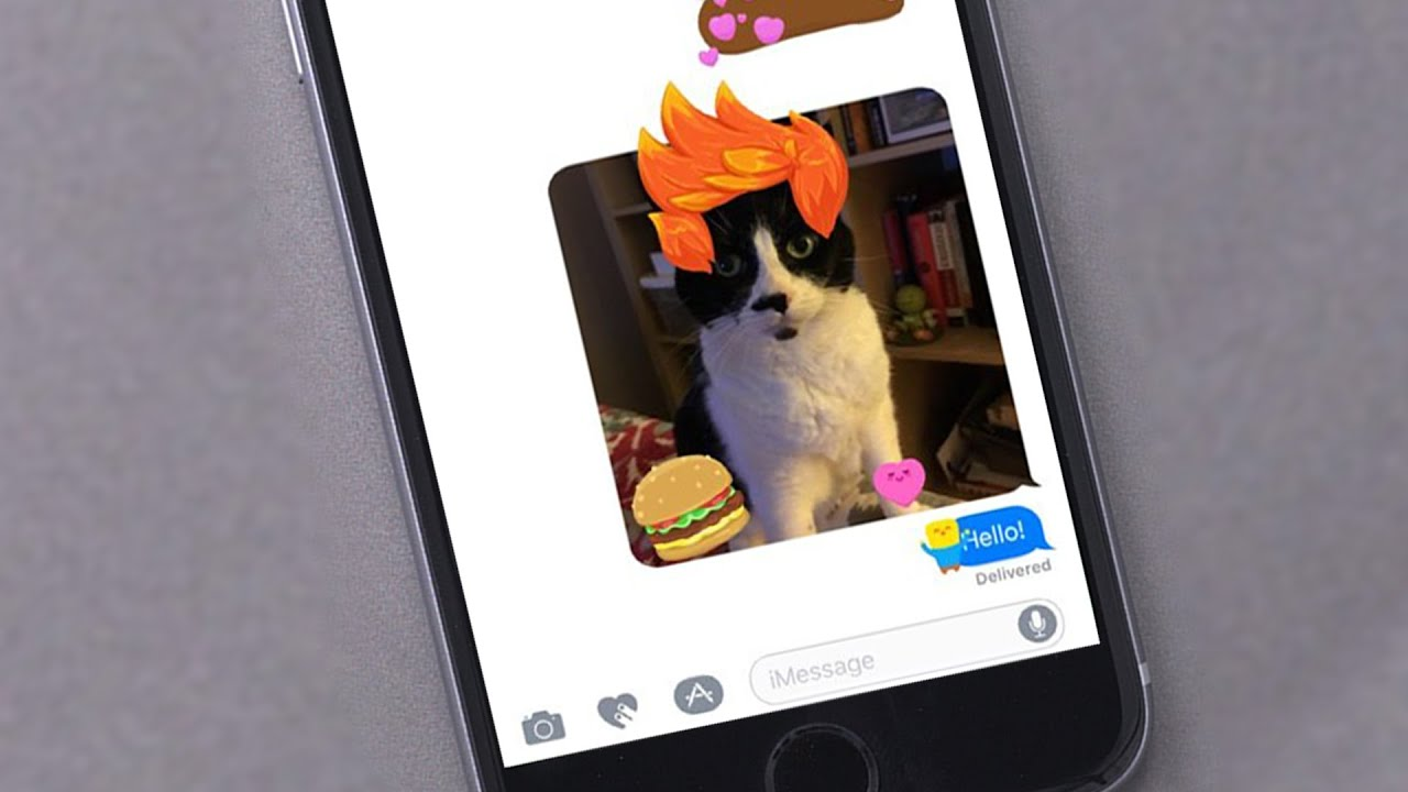 How To Use Stickers in iOS 10