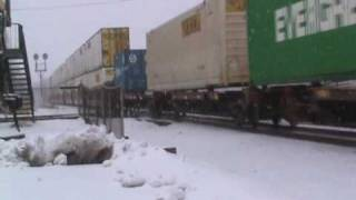 A Snowy Visit to Marion Ohio - CSX, Norfolk Southern
