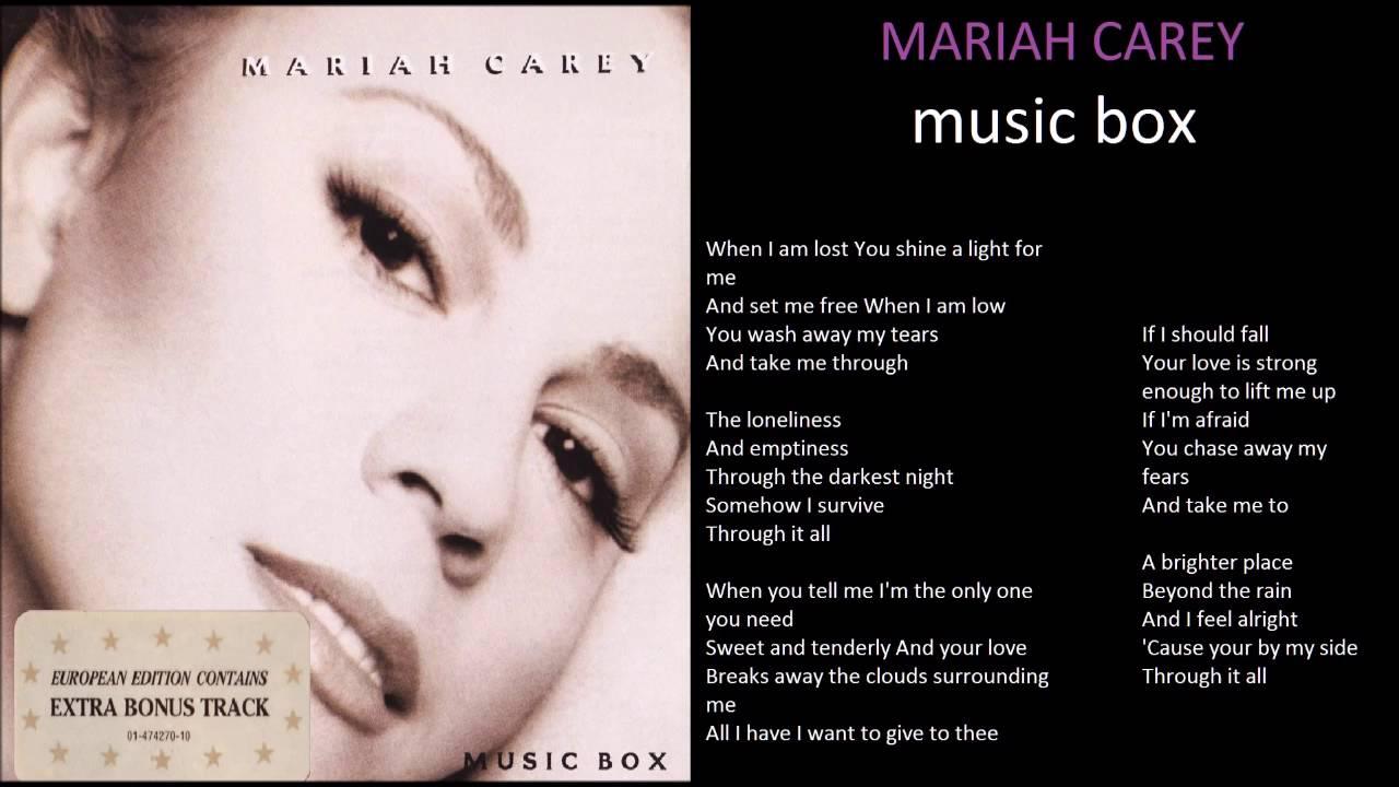 mariah carey music box... Mariah Carey Songs