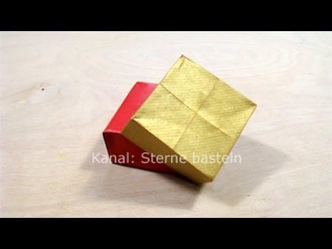 Schachtel Falten Zb Als Geschenkverpackung Für Weihnachten Kiste Basteln
