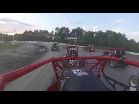 On-Board Brandon Emerson Dirt Midget Bear Ridge Speedway!